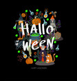 halloween banner or card with scary elements vector image vector image