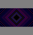 infinite rhombic or square colorful tunnel vector image