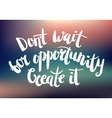 inspirational quote on blurred abstract vector image vector image