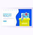 interactive reality users of new technologies vector image vector image
