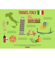 Italy travel background with place for text Set vector image vector image