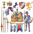 Knight Decorative Icons Set vector image vector image