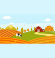 landscape view of farmer garden in the morning vector image vector image