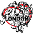 London doodle heart shape vector image