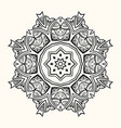 mandala decorative round ornament vector image vector image