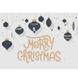 Merry Christmas lettering Typographic greeting vector image vector image