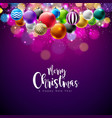 merry christmas with vector image vector image
