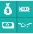 Money design value icon Flat vector image vector image
