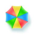 multicolor beach umbrella top view icon open vector image