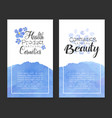 natural cosmetics health product banner templates vector image vector image