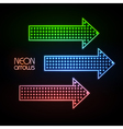 Neon arrows vector image vector image