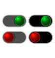 on-off sliding buttons set vector image