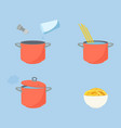 pasta cooking directions instructions steps how vector image vector image