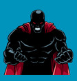 raging superhero silhouette vector image vector image