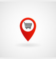 red location icon for market eps file vector image vector image