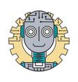 robot artificial intelligence futuristic gear vector image