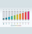 set of infographic elements vector image vector image