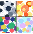 set of ink and paint spots seamless patterns vector image vector image