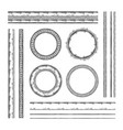 set of round frames and borders rope and dotted vector image
