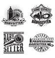set vintage emblem design vector image vector image