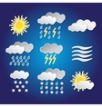 set weather funny icons with shadows vector image