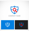 shield search guard technology logo vector image vector image