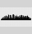 silhouette of city with black color on white vector image vector image