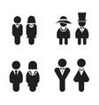 silhouette rest room wc toilet icons set vector image vector image