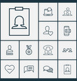 social icons set with mobile mailing conversation vector image