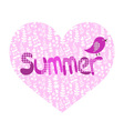 summer heart and bird vector image