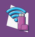 usb technology wifi internet innovation vector image