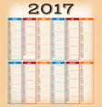 vintage design calendar for year 2017 vector image