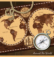 Vintage Nautical Map Compass Background vector image vector image