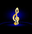 violin key music clef vector image
