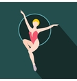 Woman trapeze artist flat icon vector image vector image