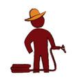 worker gardener silhouette vector image vector image
