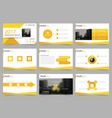 yellow abstract presentation templates infographic vector image vector image