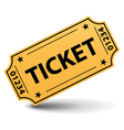 Yellow ticket vector | Price: 1 Credit (USD $1)