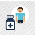sick person design vector image