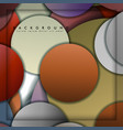 abstract circle background with color stone and vector image vector image