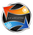 air conditioning and heating arrows sun and vector image vector image