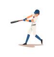 baseball player swinging bat softball athlete vector image vector image