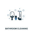 bathroom cleaning icon creative two colors design vector image vector image