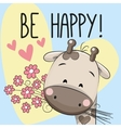 Be Happy Greeting card vector image vector image
