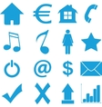 Best flat icons set vector image vector image