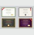 big set diploma or certificate premium design vector image vector image