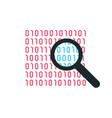 binary code bright icon icon vector image vector image