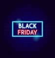 black friday sale neon sign vector image vector image
