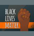 black lives matter poster background human vector image