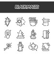 black magic cartoon concept icons vector image vector image